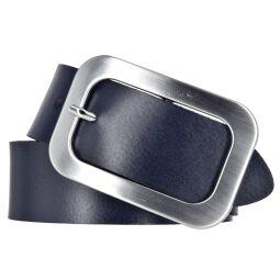 Vanzetti Damengürtel aus Leder in blau / marine 40mm