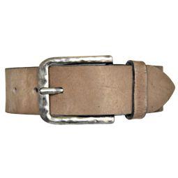 SDV Leder Gürtel Belt Ledergürtel Vollrindleder kürzbar taupe 40mm Herrengürtel 85 cm