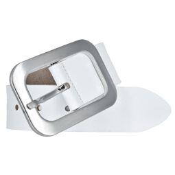 Vanzetti Damen Leder Gürtel Vollrindleder Damengürtel weiß 40mm