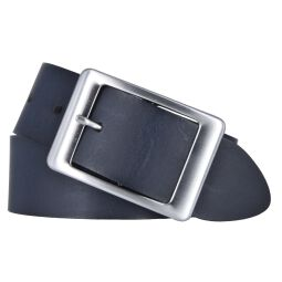 Vanzetti Damen Leder Gürtel Belt Ledergürtel Damengürtel blau 40 mm 80 cm