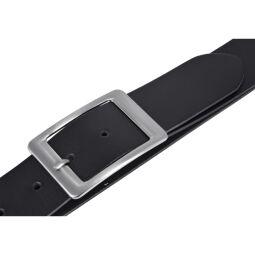 Vanzetti Damen Leder Gürtel Belt Ledergürtel Damengürtel schwarz 40 mm 90 cm