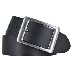 Vanzetti Damen Leder Gürtel Belt Ledergürtel Damengürtel schwarz 40 mm 95 cm