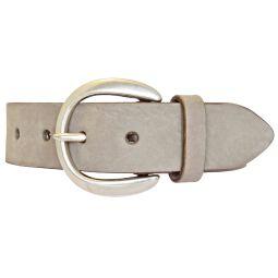 Vanzetti Damen Leder Gürtel Vollrindleder Damengürtel taupe 35mm Ledergürtel