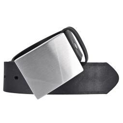 Vanzetti Herren Leder Gürtel 40mm schwarz Ledergürtel Herrengürtel Koppelschließe 90 cm