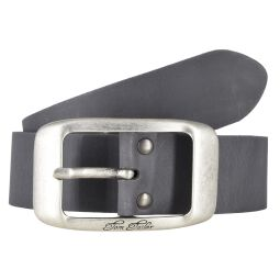 Tom Tailor Damen Leder Gürtel Belt Ledergürtel Rindleder used Grau 40mm Eindornschließe
