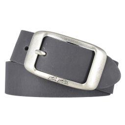 Tom Tailor Damen Leder Gürtel Belt Ledergürtel Rindleder used Grau 40mm Eindornschließe 80 cm