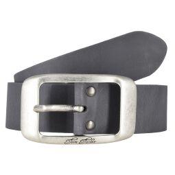 Tom Tailor Damen Leder Gürtel Belt Ledergürtel Rindleder used Grau 40mm Eindornschließe 90 cm