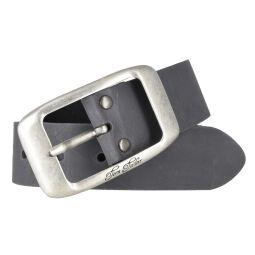 Tom Tailor Damen Leder Gürtel Belt Ledergürtel Rindleder used Grau 40mm Eindornschließe 100 cm
