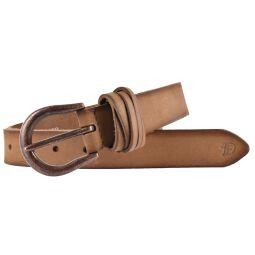 TOM TAILOR DENIM Damen Leder Gürtel mit Vintage Kanten taupe 30 mm Damengürtel
