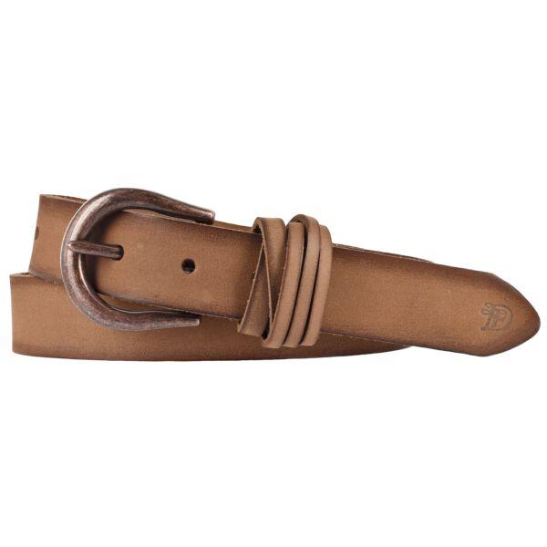 TOM TAILOR DENIM Damen Leder Gürtel mit Vintage Kanten taupe 30 mm Damengürtel 80