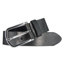 Vanzetti Damen Leder Gürtel Rindleder Damengürtel schwarz silbermetallic 35 mm 80