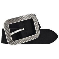Vanzetti Damen Leder Gürtel Veloursleder Damengürtel schwarz 40mm 100