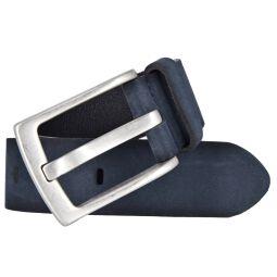 Vanzetti Herren Leder Gürtel Belt Ledergürtel Herrengürtel blau 40 mm mit Airbrushkanten 90