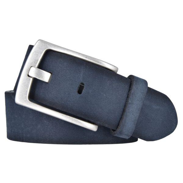 Vanzetti Herren Leder Gürtel Belt Ledergürtel Herrengürtel blau 40 mm mit Airbrushkanten 100