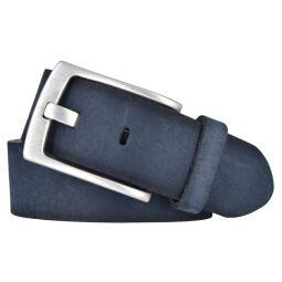 Vanzetti Herren Leder Gürtel Belt Ledergürtel Herrengürtel blau 40 mm mit Airbrushkanten 105