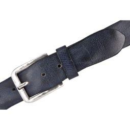 Vanzetti Herren Leder Gürtel Vollrindleder marine 40 mm kürzbar Herrengürtel 100