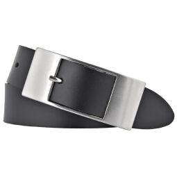 Bernd Götz Damen Leder Gürtel 35 mm schwarz Rindleder 110 cm