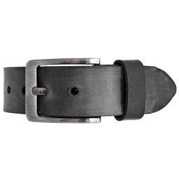 Bovino by Bernd Götz Herren Leder Gürtel 40 mm breit schwarz Vollrindleder gewachst kürzbar Herrengürtel 85