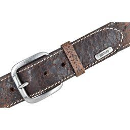 Mustang Herren Vintage Leder Gürtel Ledergürtel Herrengürtel 40 mm dunkelbraun Herrengürtel