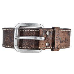 Mustang Herren Vintage Leder Gürtel Ledergürtel Herrengürtel 40 mm dunkelbraun Herrengürtel 95