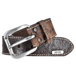 Mustang Herren Vintage Leder Gürtel Ledergürtel Herrengürtel 40 mm dunkelbraun Herrengürtel 110