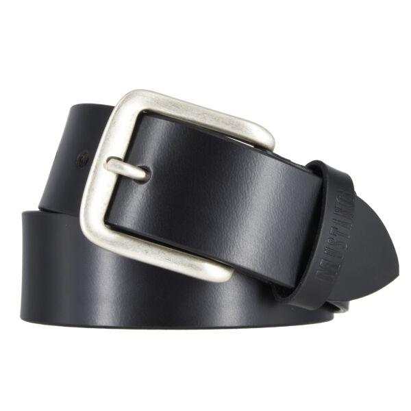 Mustang Herren Leder Gürtel Ledergürtel Herrengürtel 40 mm schwarz kürzbar Vintage