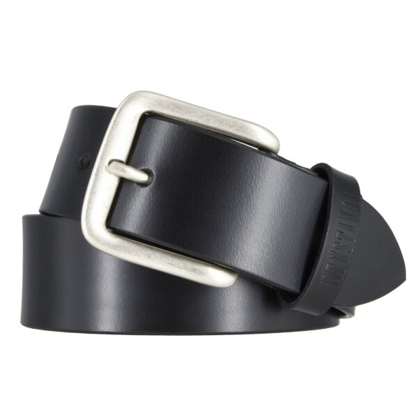 Mustang Herren Leder Gürtel Ledergürtel Herrengürtel 40 mm schwarz kürzbar Vintage 105