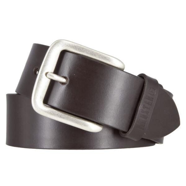 Mustang Herren Leder Gürtel Ledergürtel Herrengürtel 40 mm dunkelbraun kürzbar Vintage