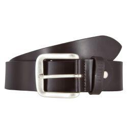 Mustang Herren Leder Gürtel Ledergürtel Herrengürtel 40 mm dunkelbraun kürzbar Vintage 90
