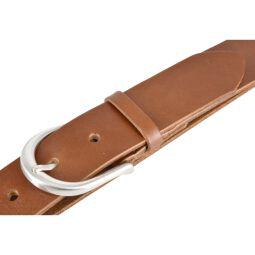 Vanzetti Damen Leder Gürtel Damengürtel Vollrindleder cognac 35 mm 90