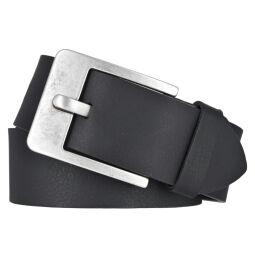 Vanzetti Herren Leder Gürtel Belt Ledergürtel Vollrindleder schwarz 45 mm kürzbar Herrengürtel
