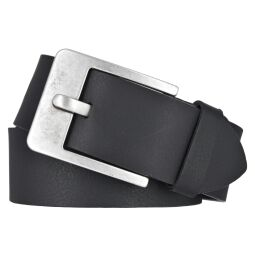 Vanzetti Herren Leder Gürtel Belt Ledergürtel Vollrindleder schwarz 45 mm kürzbar Herrengürtel 85