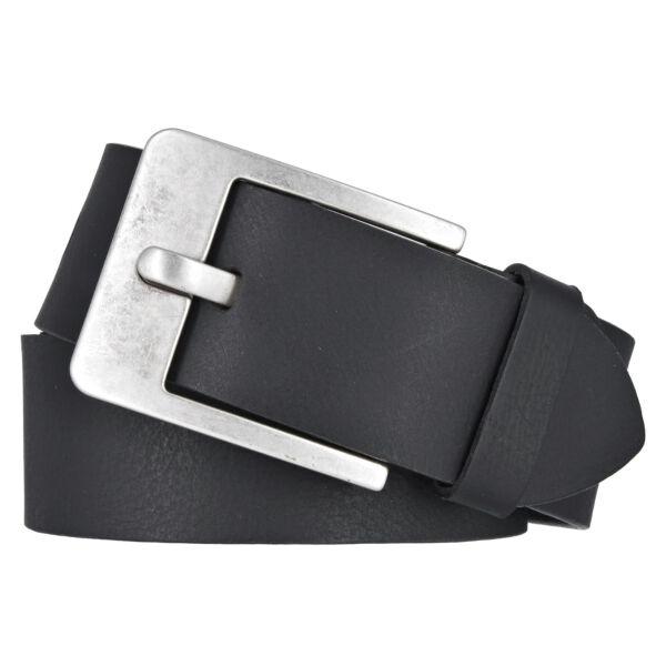 Vanzetti Herren Leder Gürtel Belt Ledergürtel Vollrindleder schwarz 45 mm kürzbar Herrengürtel 95