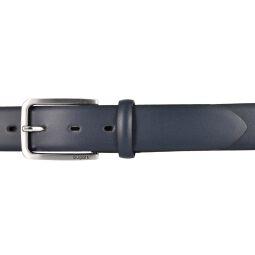 bugatti Gürtel Herrengürtel Ledergürtel 35 mm marine