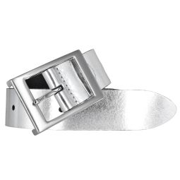 Bernd Götz Damen Leder Gürtel 35 mm silber Nappaleder kürzbar Damengürtel