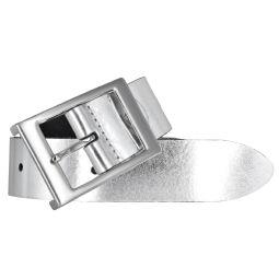 Bernd Götz Damen Leder Gürtel 35 mm silber Nappaleder kürzbar Damengürtel 80