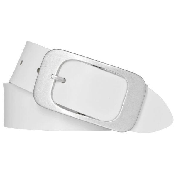 Bernd Götz Damen Leder Gürtel 40 mm weiß Nappaleder kürzbar