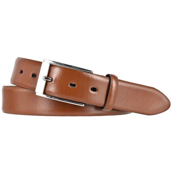 LLOYD Mens Belts Gürtel Ledergürtel Herrengürtel Bombiert Cognac 35mm