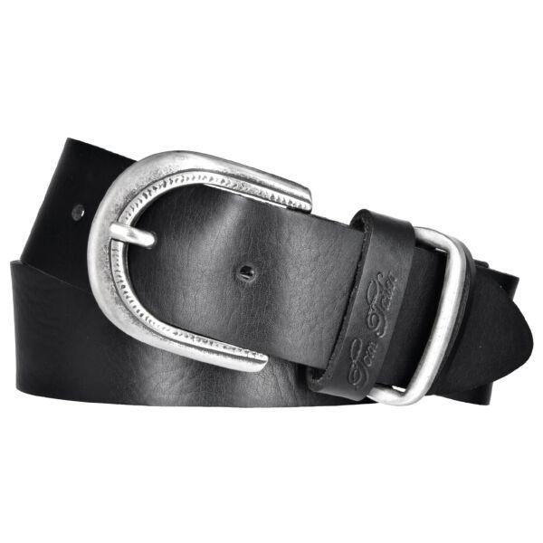 TOM TAILOR Damen Leder Gürtel schwarz 35 mm soft milled Rindleder Damengürtel