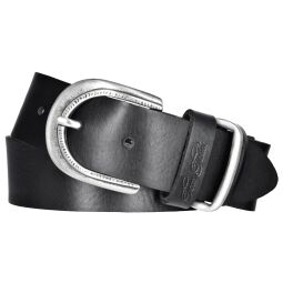 TOM TAILOR Damen Leder Gürtel schwarz 35 mm soft...