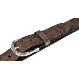 Vanzetti Damen Leder Gürtel Vollrindleder Metallicfinish Damengürtel taupe-copper 30 mm Ledergürtel