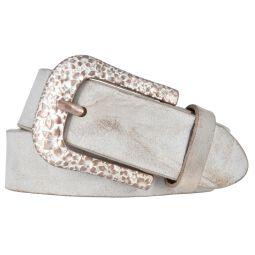Silbergift by Bernd Götz Damen Leder Gürtel 35 mm Walkleder Vintage geprägt kürzbar