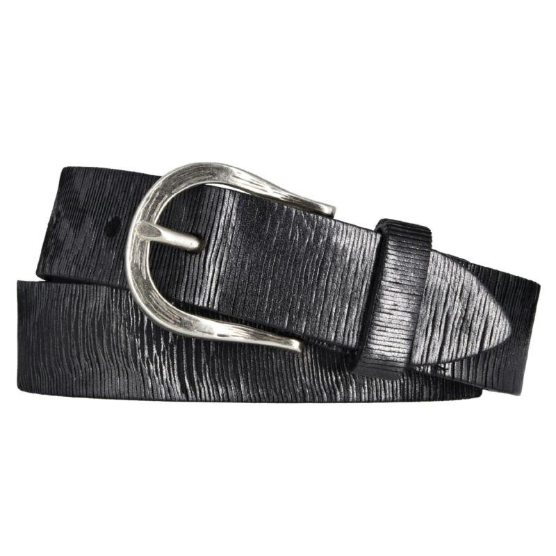 Vanzetti Ledergürtel Damen 30 mm Damengürtel Leder schwarz Leather Belt